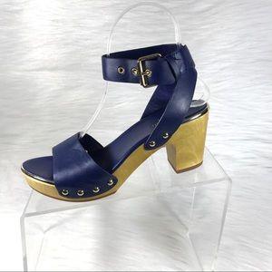 Kate Spade Heel Sandals Blue Ankle Strap Size 5.5M